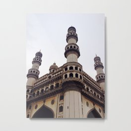 Indian Architecture - Streets of India Metal Print