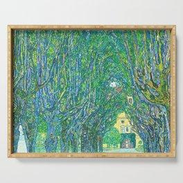 Gustav Klimt - Allee im Park von Schloss Kammer (new editing) Serving Tray