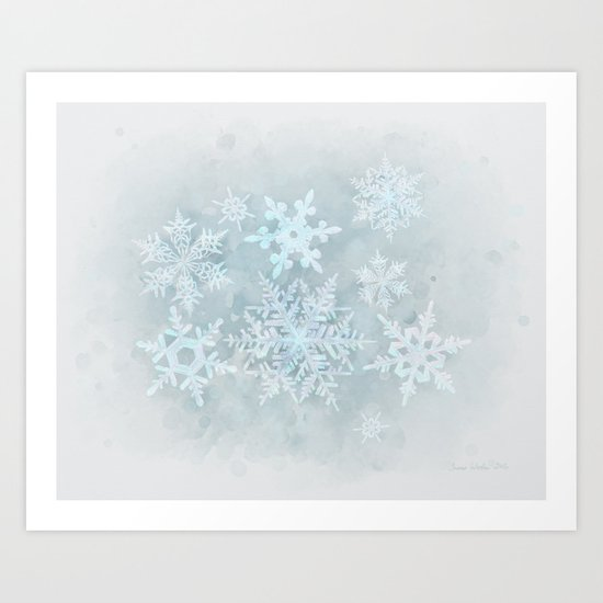 Snow is coming Art Print