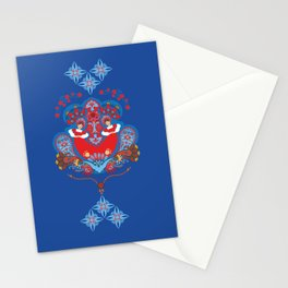 Russian ornament. Dancing girls Stationery Cards