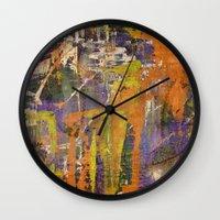 chaos Wall Clocks featuring Chaos by BruceStanfieldArtistPainter