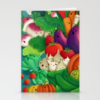 danny ivan Stationery Cards featuring Nice People Eat Vegetables - background (Made with Danny Ivan) by Lidija Paradinović Nagulov - Celandine