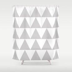 Grey Triangle /// www.pencilmeinstationery.com Shower Curtain