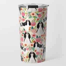 Cavalier King Charles Spaniel floral flowers dog breed pattern dogs Travel Mug