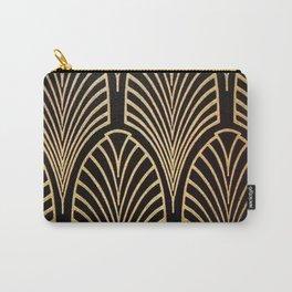 Art nouveau Black,bronze,gold,art deco,vintage,elegant,chic,belle époque Carry-All Pouch