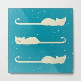 white cats Metal Print