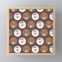 Santa's Slaves III (Patterns Please) Framed Mini Art Print