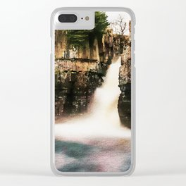 High Force Waterfall. Clear iPhone Case