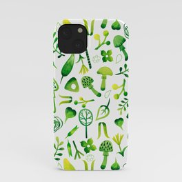Funny pattern with mushrooms iPhone Case