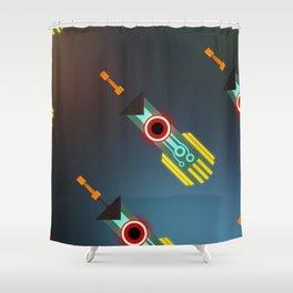 Transistor Swords Shower Curtain