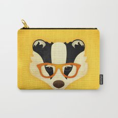 Hipster Badger: Gold Carry-All Pouch
