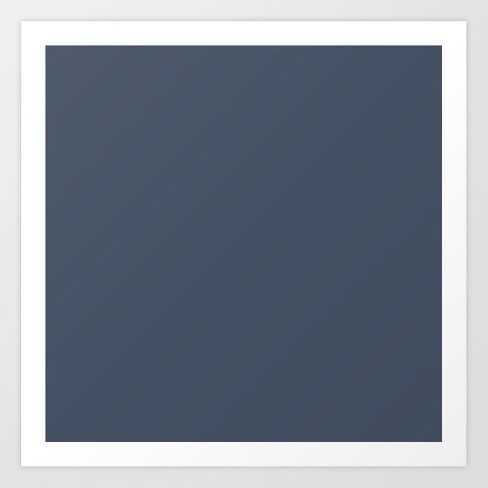 Dark Slate Blue Gray Art Print