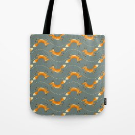 Fox Hop Tote Bag