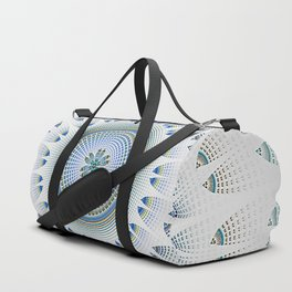 Lacy Blue and White Mandala Duffle Bag
