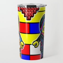 The Lego Movie Valentine with Emmett and Wyldestyle (Lucy) Travel Mug