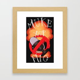 Muke mic Framed Art Print