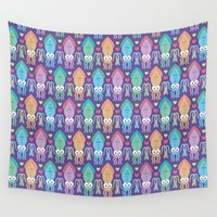 squid Wall Tapestries featuring Squid love by Petits Pixels