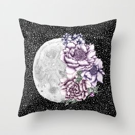 Moon Abloom II Throw Pillow