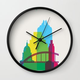 Shapes of Austin. Accurate to scale. Wall Clock