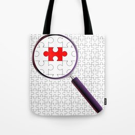 Odd Piece Magnifying Glass Tote Bag