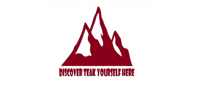 Mountain Design #DiscoverTeakYourselfHere Coffee Mug