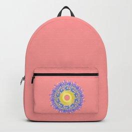 Mandala #105, Peach and Sunshine Backpack