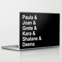 karu kara Laptop & iPad Skins featuring Paula & Joan & Grete & Kara & Shalane & Deena  by Sarah Marie Design Studio