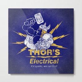 Thor - Thor's Electrical Metal Print