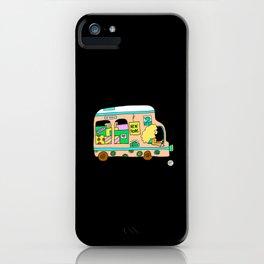 Vintage campervan flowerpower van iPhone Case