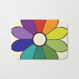 James Ward's Chromatic Circle 1903 (no background; interpretation) Bath Mat