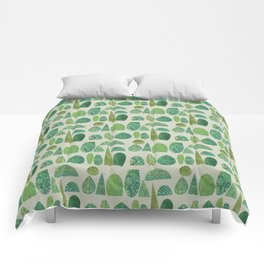 Watercolour Topiary Comforters