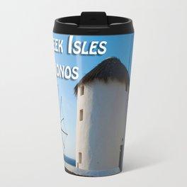 Windmills on Mykonos Island Greece Travel Mug