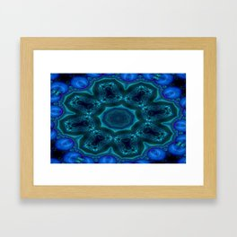 Battling At The Chasm Mandala 11 Framed Art Print