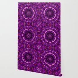 Purple Petal Garden Mandala Wallpaper