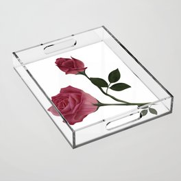 Mystical Maroon Rose Acrylic Tray