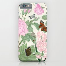 Pink flowers and butterflies Slim Case iPhone 6s