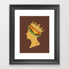 Burger Queen aka Royal With Cheese Framed Art Print