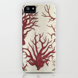 Naturalist Red Coral iPhone Case