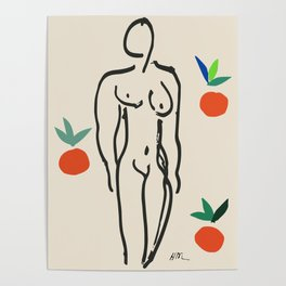 Henri Matisse Nude With Oranges 1951 Artwork for Wall Art, Prints, Posters, Tshirts, Men, Women, Youth Poster