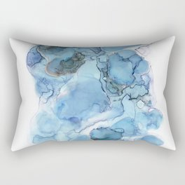 Indigo Abstract No. 4 Rectangular Pillow