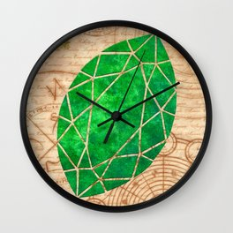 Magical Emerald - Illustration Gems Wall Clock