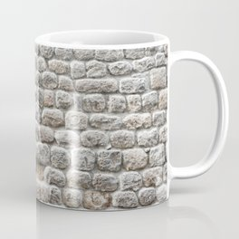 Close up view of the textured stone wall of a historical building Coffee Mug