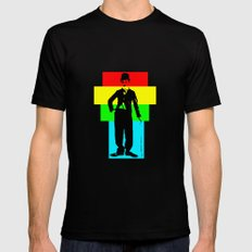 Charlie Chaplin MEDIUM Mens Fitted Tee Black