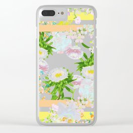 Floral Frame Collage Clear iPhone Case