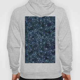 Blue Lagoon Midnight Rippled Water Abstract Hoody