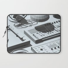 Low Poly Studio Objects 3D Illustration Grey Laptop Sleeve