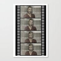 silent hill Canvas Prints featuring Maria Silent Hill by Alberto P