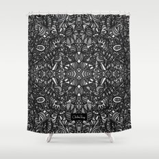 Piccadilly Circus Black & White Shower Curtain