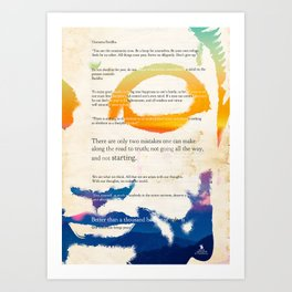 GUATAMA BUDDHA Art Print