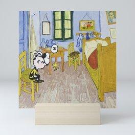 Peanuts in La camera di Vincent ad Arles Mini Art Print